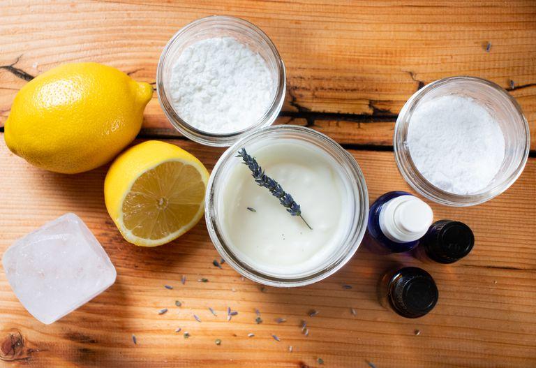 flat lay of ingredients needed to DIY deodorant