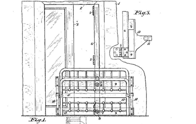 Murphy bed patent diagram