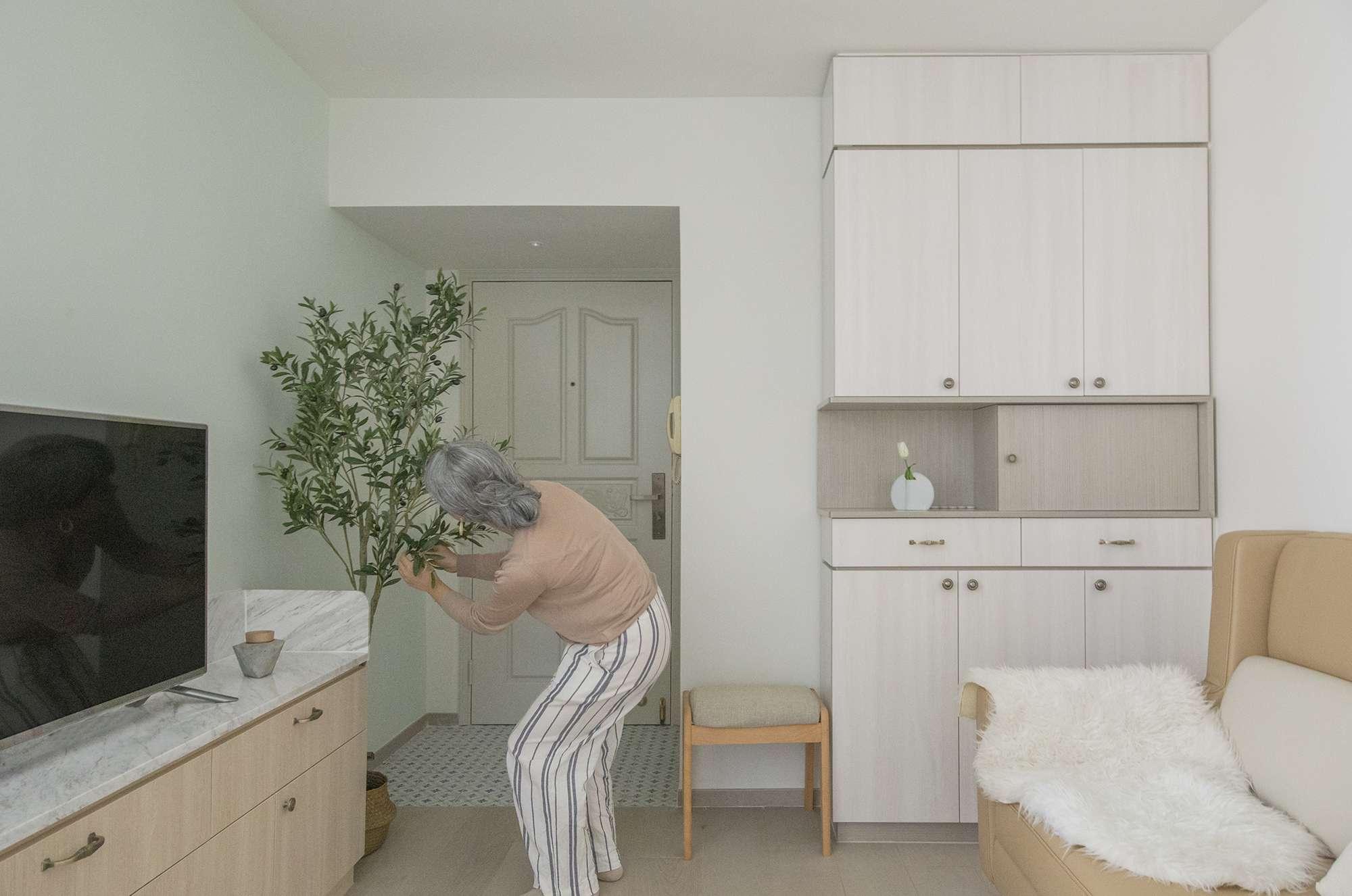 Floral Aged House apartment renovation by Sim-Plex Design Studio entrance