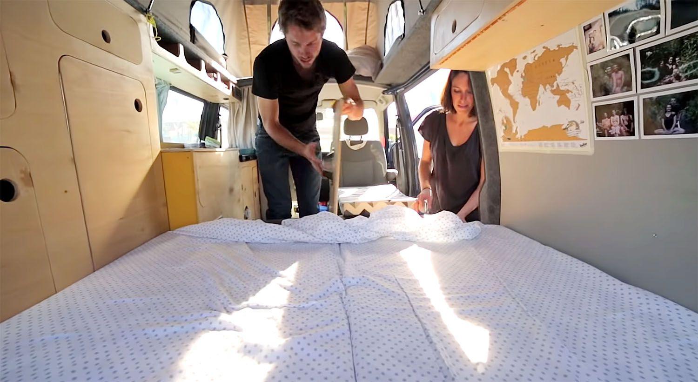 DIY van conversion projetcapa bed