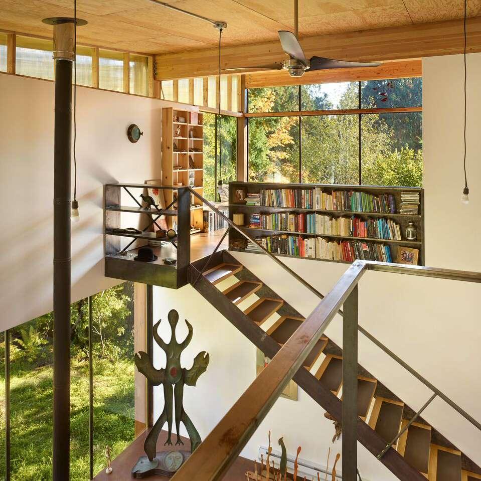 Interior of Scavenger studio, Grapeview, Washington