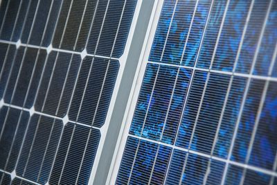 different solar panel close-up