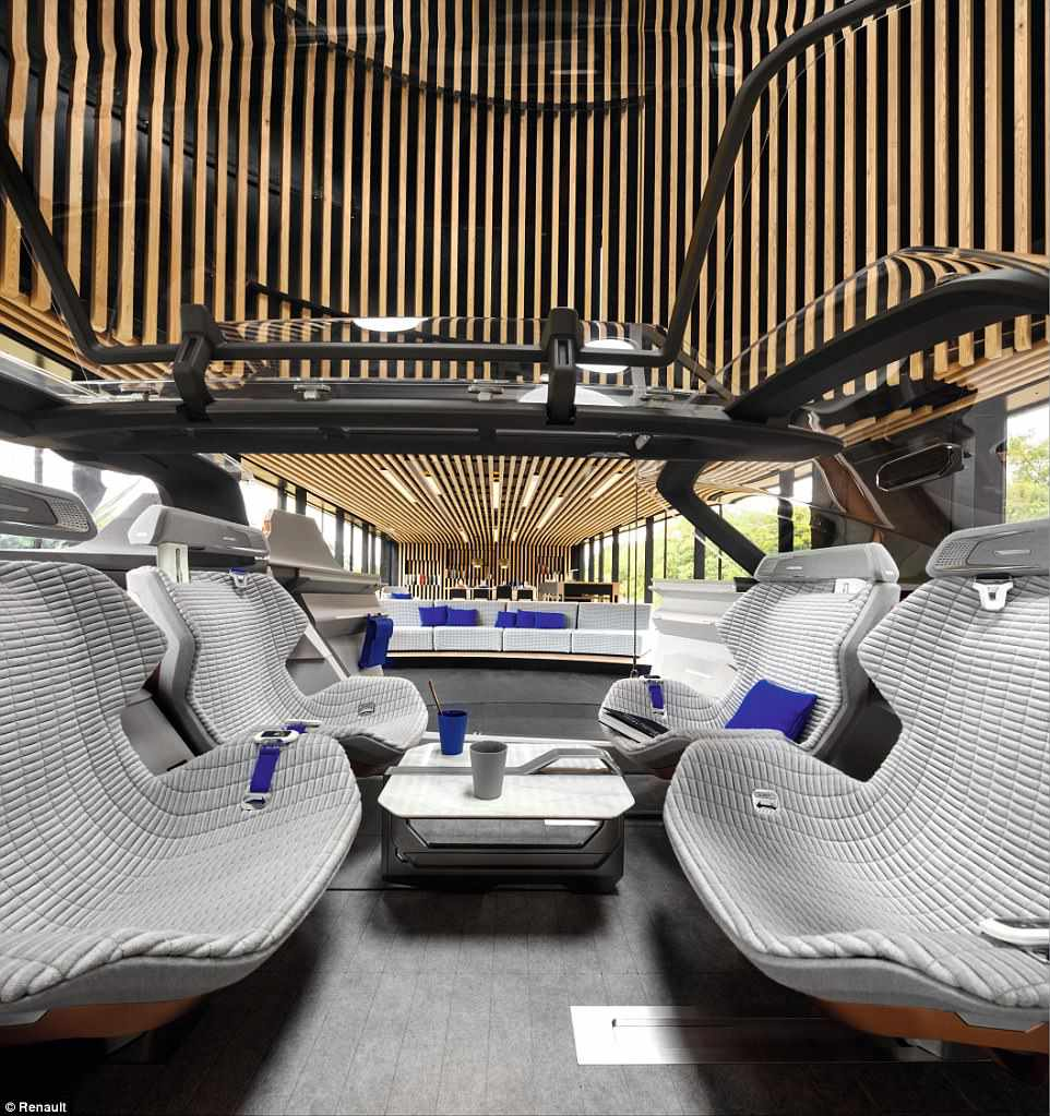 interior view of car in living room