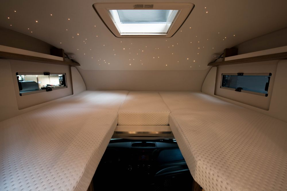 Sleeping area in the electric RV