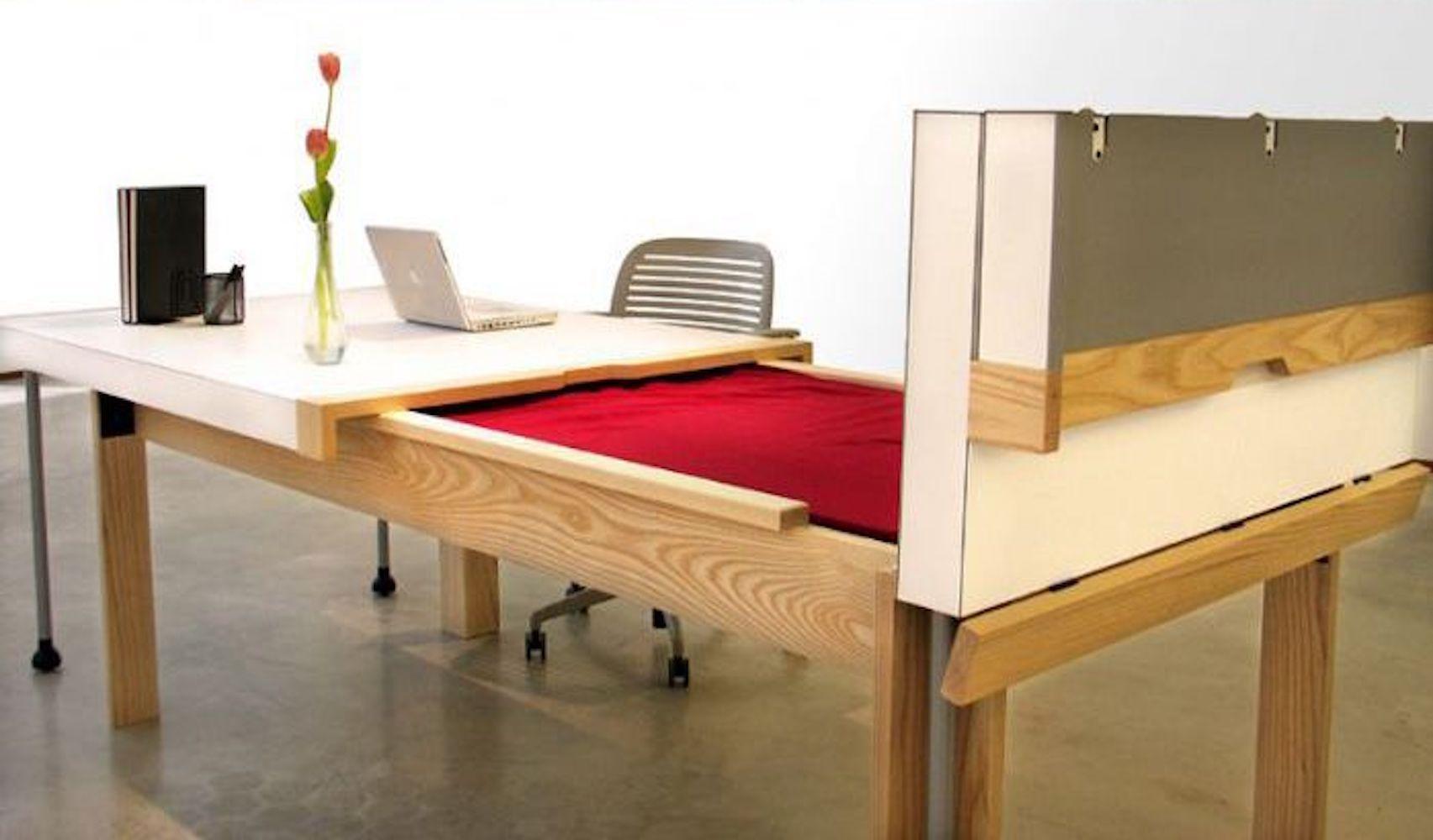 Desk to bed design