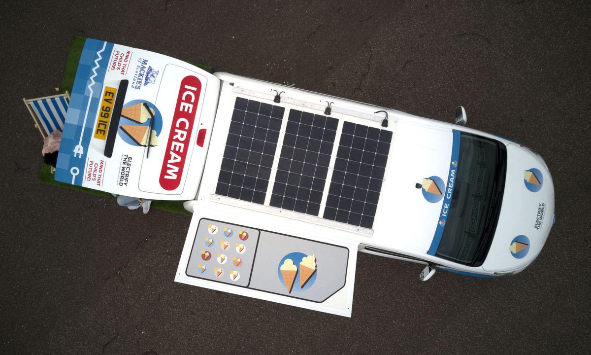 rooftop solar on ice cream truck