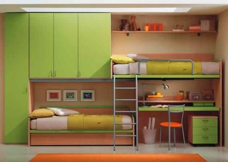 italian loft bed system