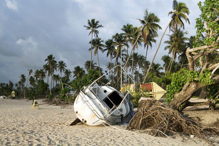 Hurricane Maria 2017 beachfront damage