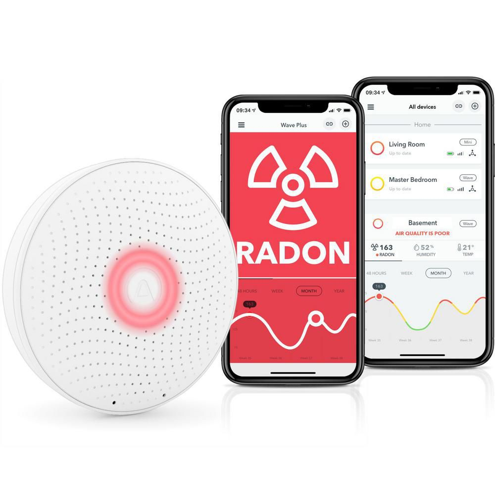 Air Things Wave Plus Battery Operated Radon Detector