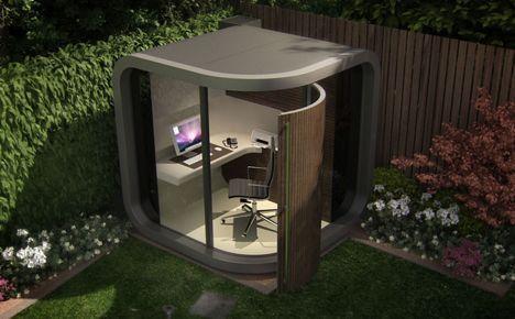 officepod in garden image