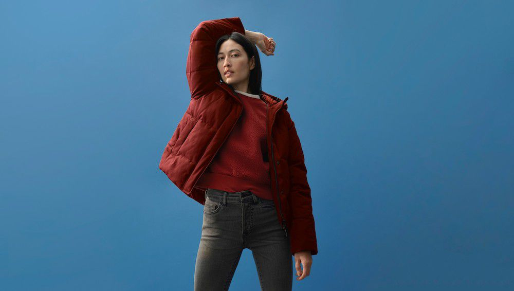 Everlane red jacket
