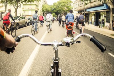Critical mass cycling event in Lisbon