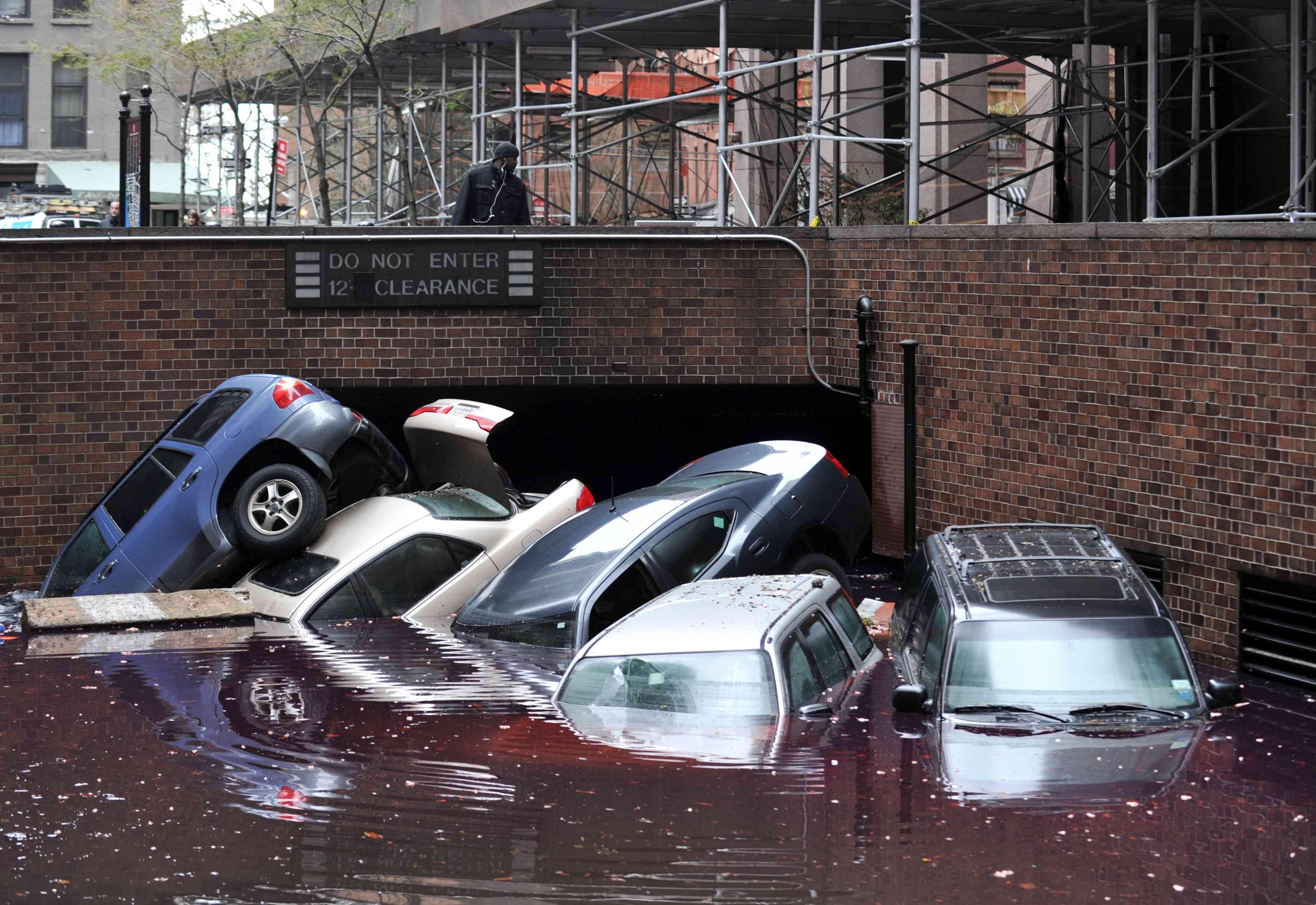Damage after Hurricane Sandy, Lower Manhattan