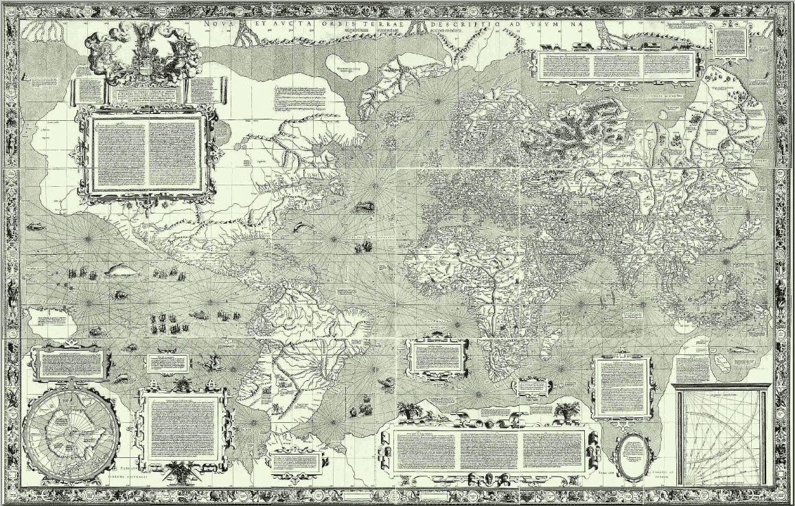 1569 Mercator projection map