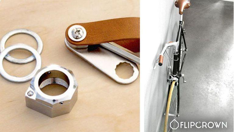 FlipCrown es un pequeño y útil accesorio que hace que cualquier bicicleta se pliegue para almacenarla (video)