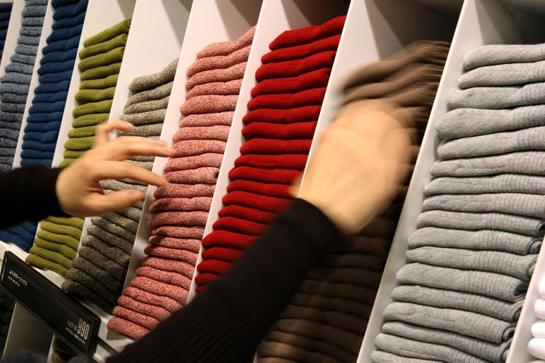 stacked sweaters