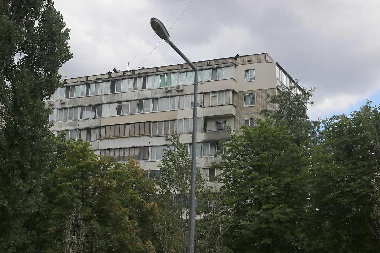Soviet-style concrete-block high-rises