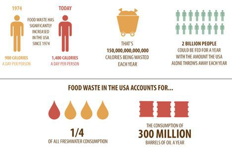 food waste graph image