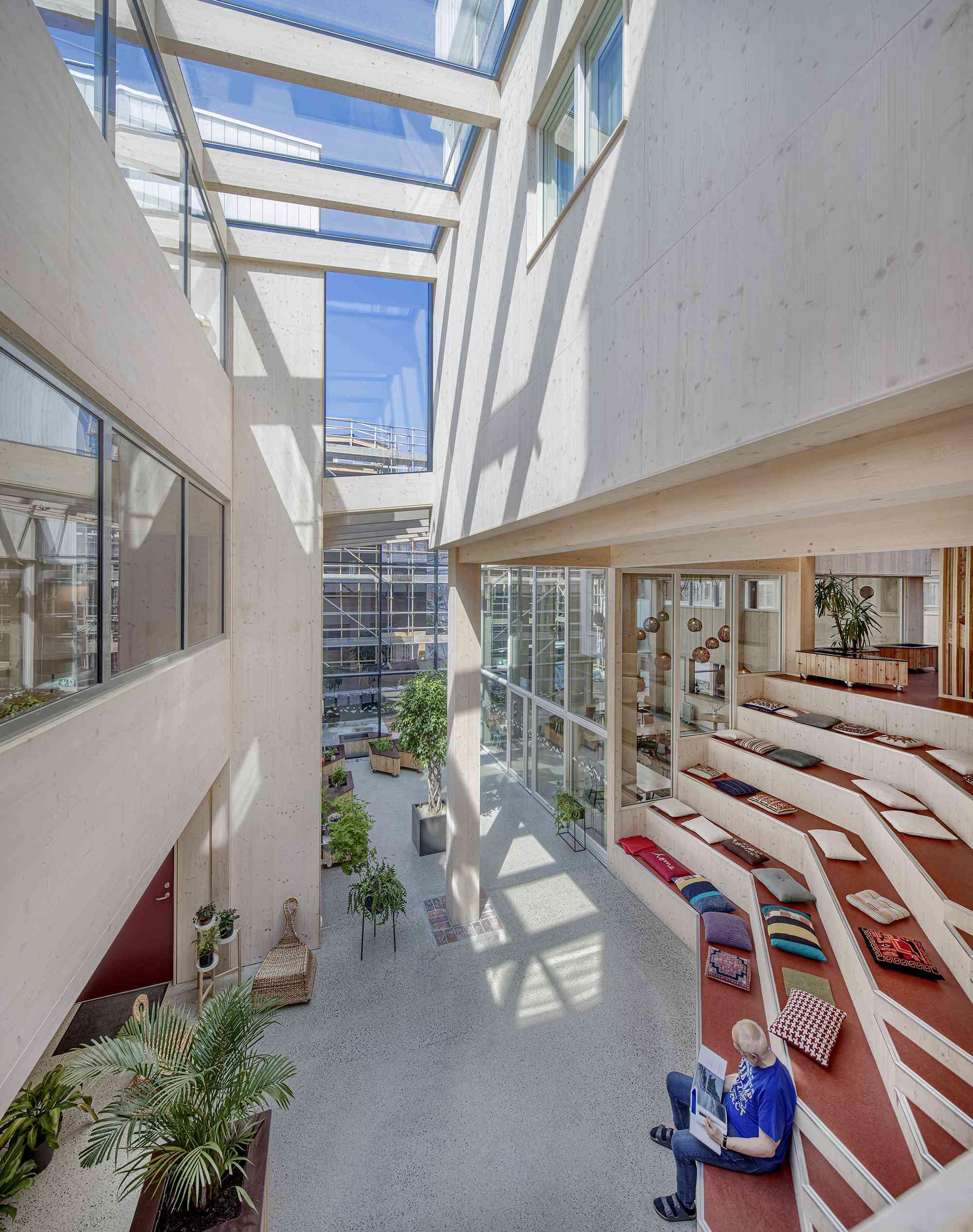 Vindmøllebakken Cohousing Project by Helen & Hard Architects interior courtyard