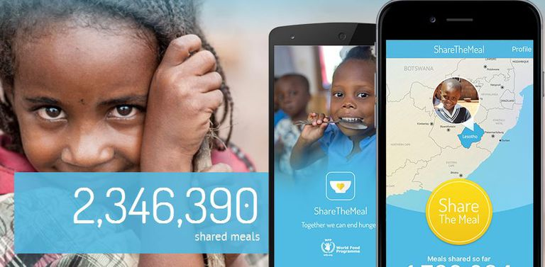 Cambiando el mundo, 50 centavos a la vez: una nueva aplicación ayuda a alimentar a los niños refugiados sirios