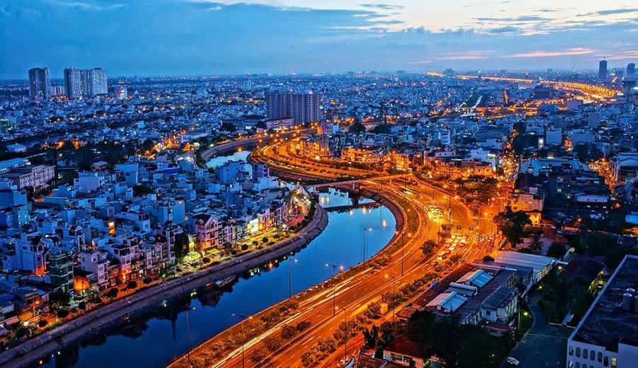 Blue Hour: Ho Chi Minh, VIetnam