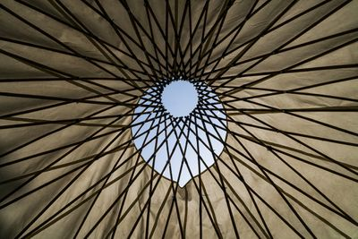 The roof of a yurt.