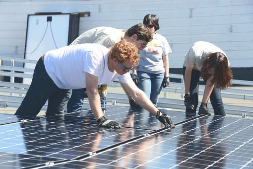 Solar installation for Other Avenues Food Co-Op in San Francisco, which was one of RE-volv's first solar projects