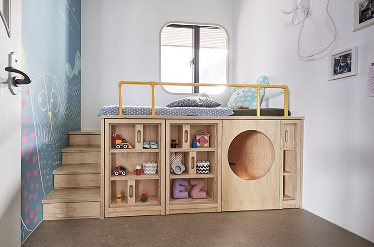 Space Saving Design Makes One Child S Bedroom A Fun Hideaway