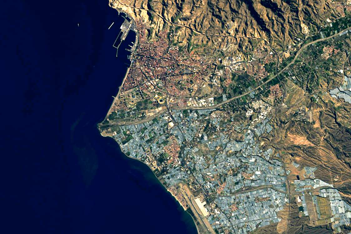 View of Almería Greenhouses from Landsat 8 satellite