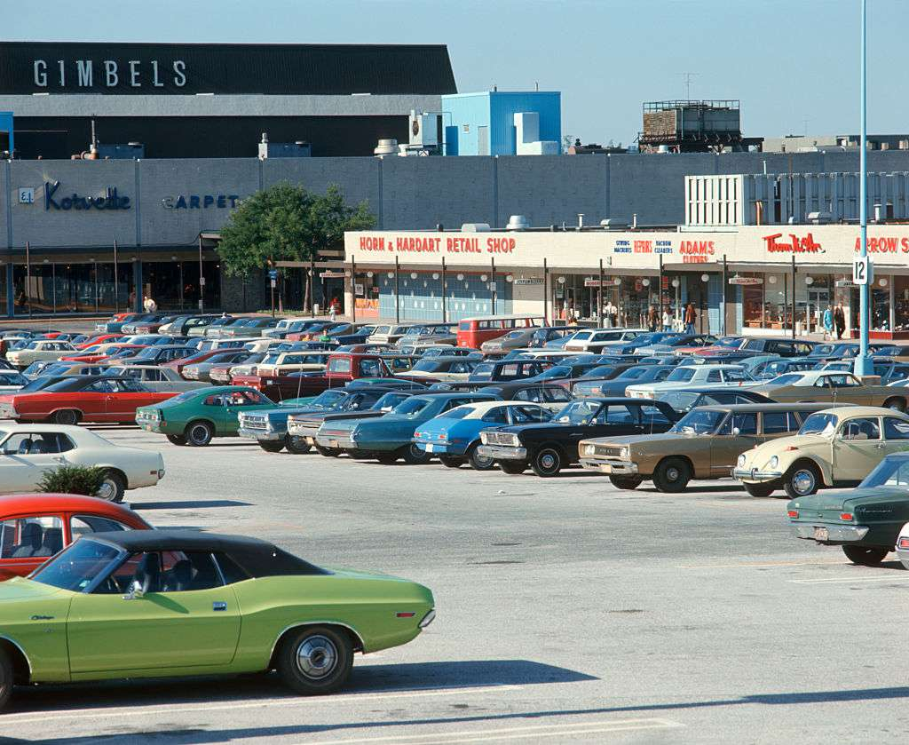 Parkign lot in the sixties
