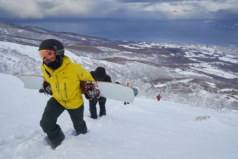 snowboarder in Japan