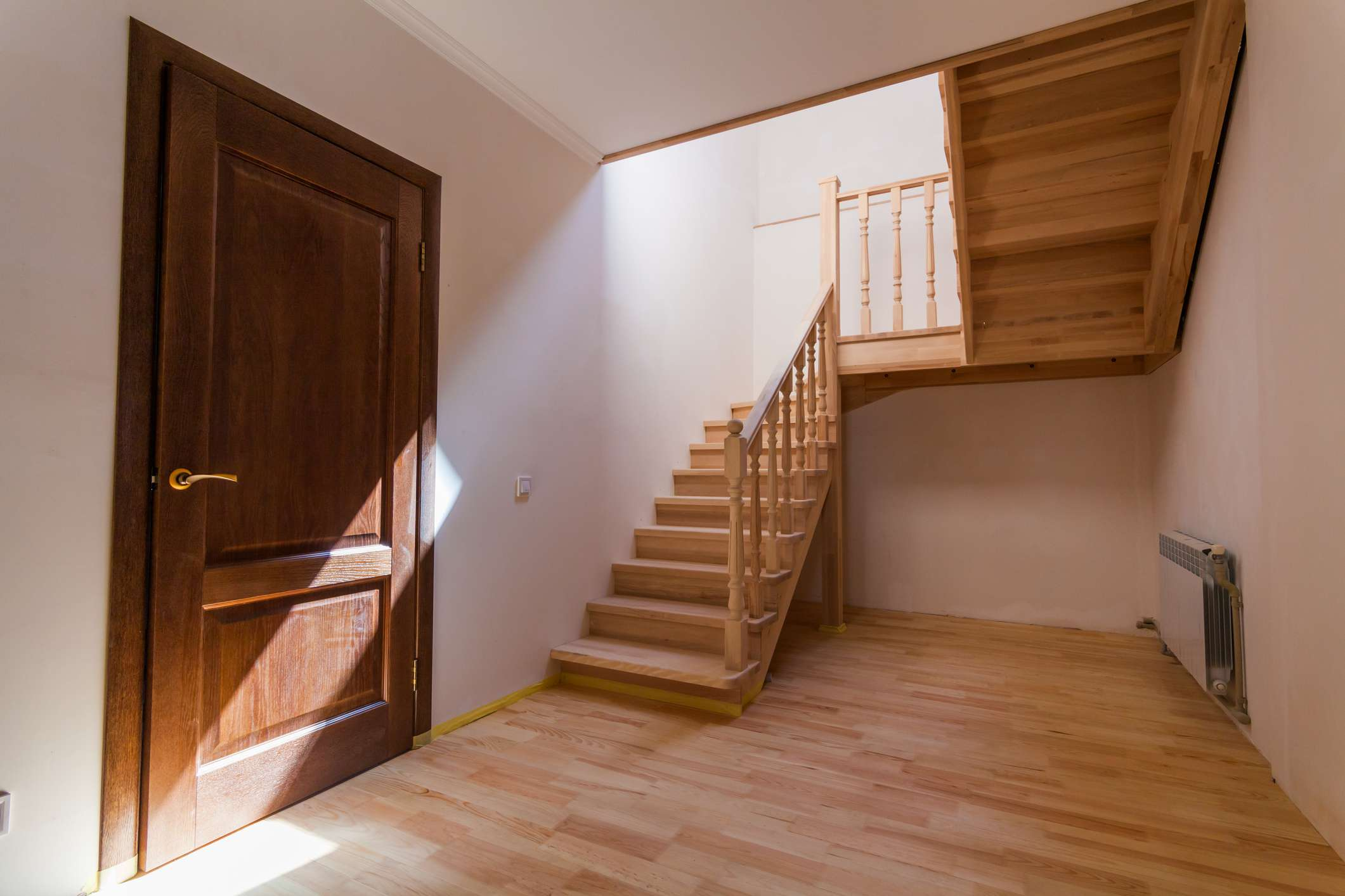 An understair nook used as a storm shelter