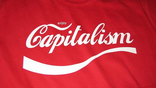 Mock Coke capitalism shirt photo