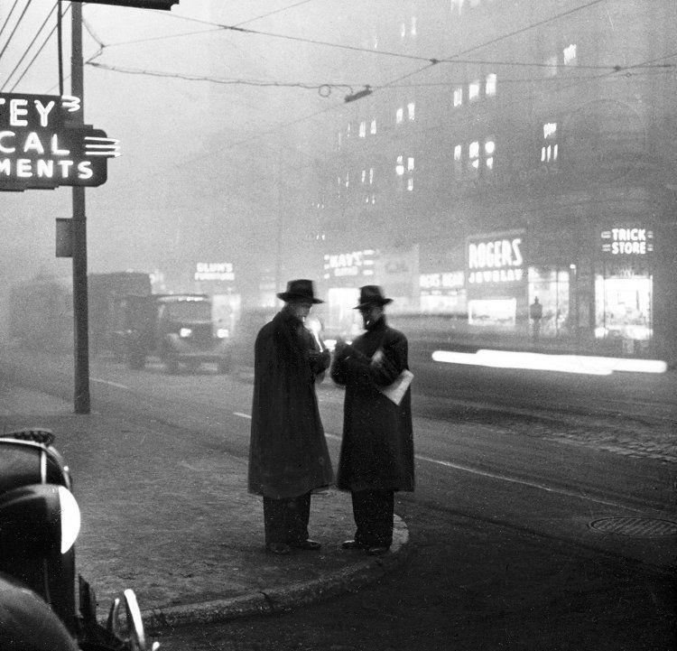 Two men smoking