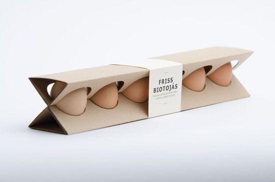 El rediseño inteligente del cartón de huevos está hecho de una sola pieza de cartón