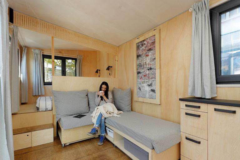 EBH 659 tiny house Ecobox Home Ltd. living room