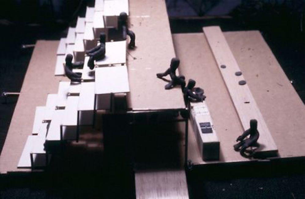 A scale model of a summer camp design