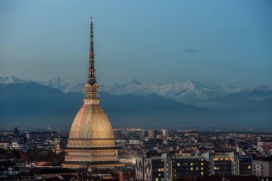 Blue Hour: Turin, Italy