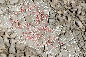 Rocks with diagrams plotting their shapes