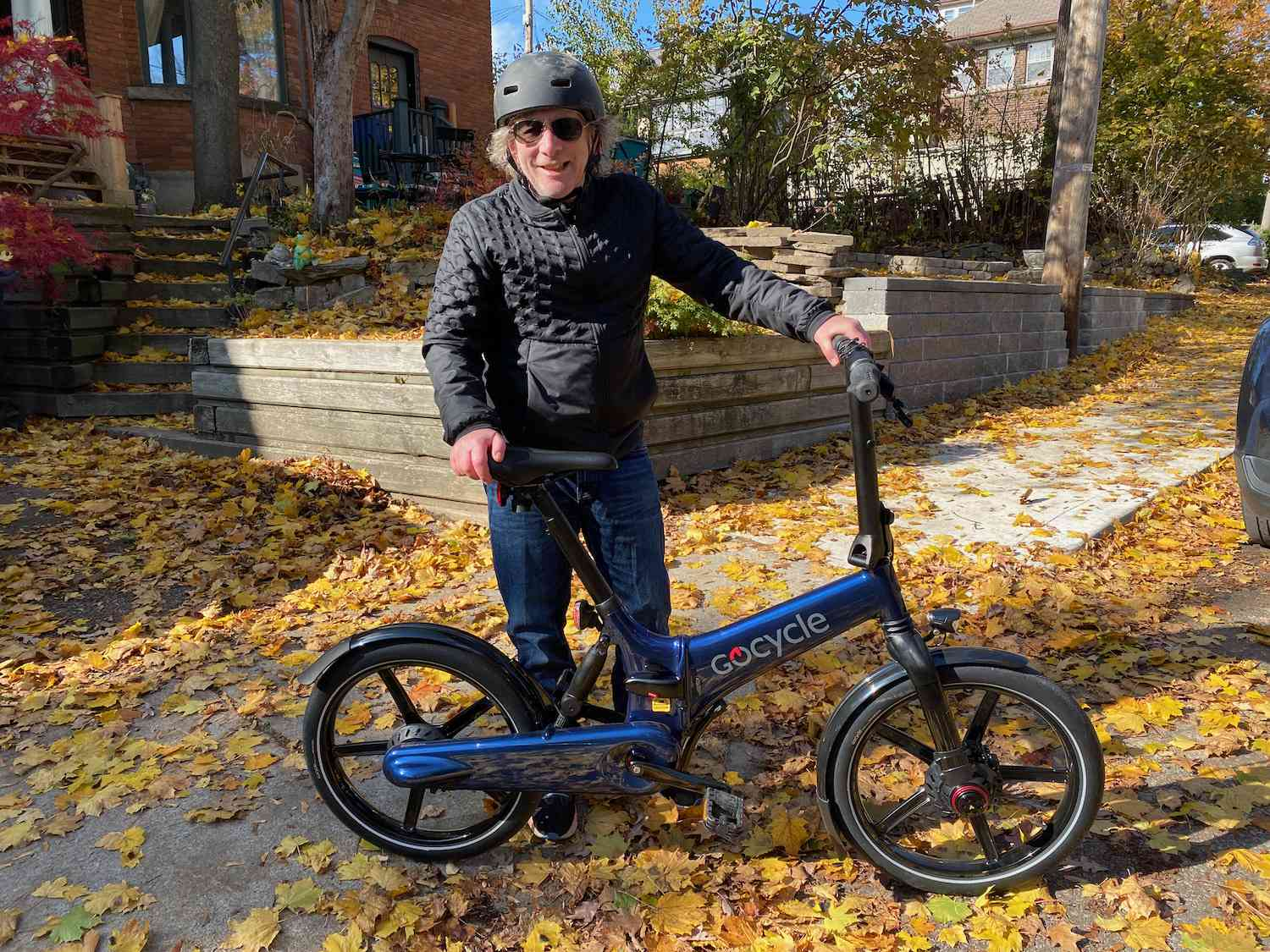 Lloyd Alter with a Gocycle