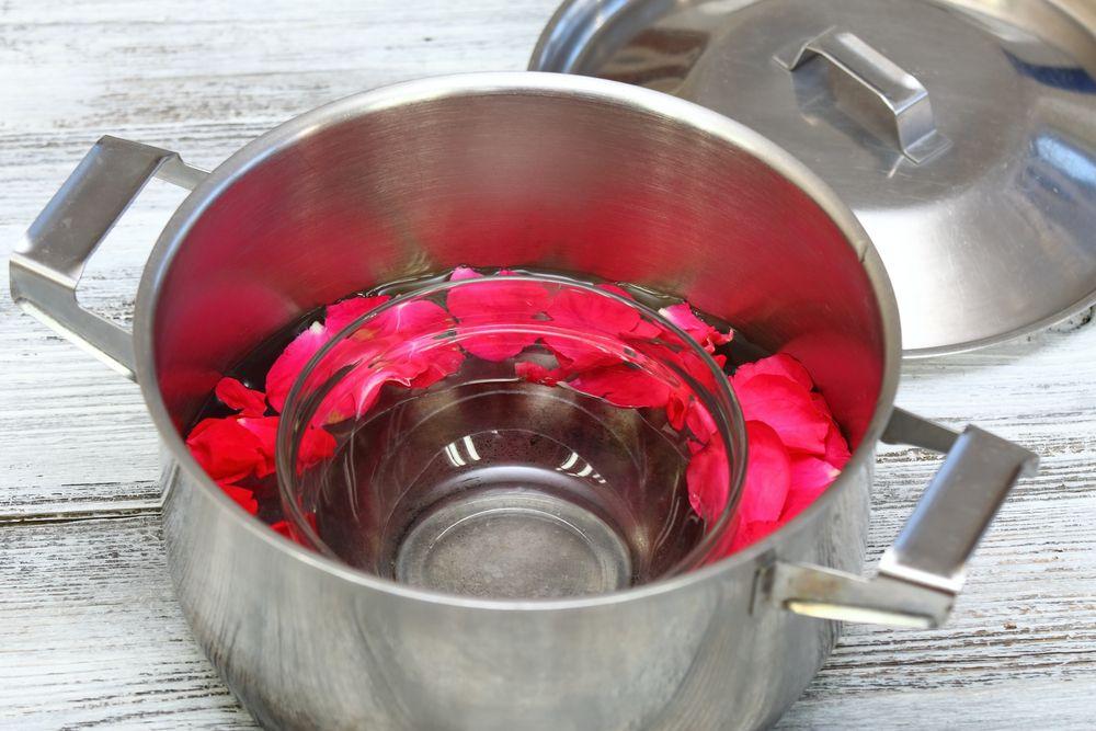 rose water distilling