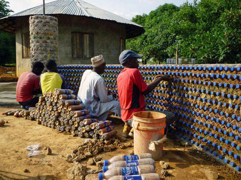 plastic bottle house yelwa nigeria