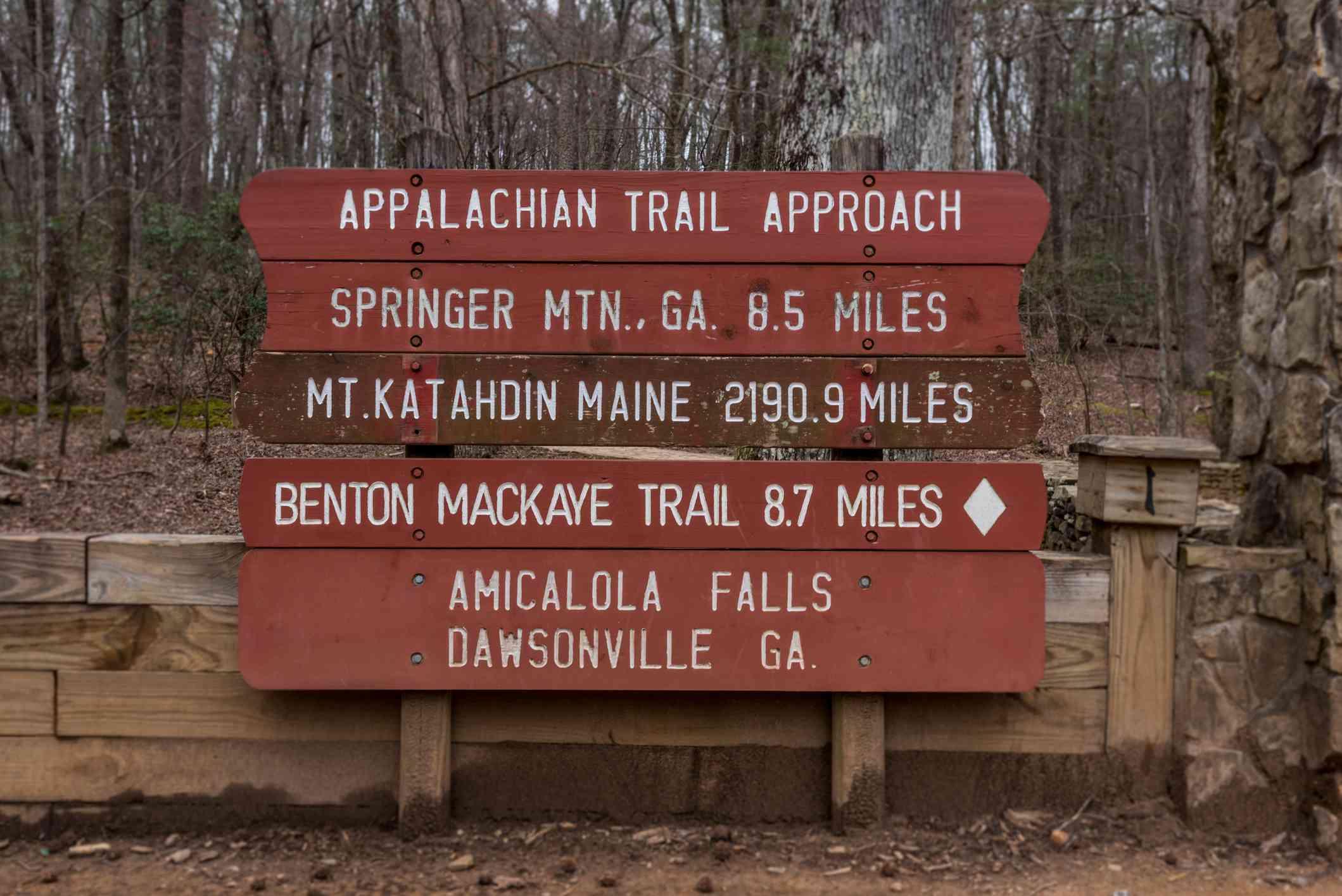 Appalachian Trail Approach sign, Georgia