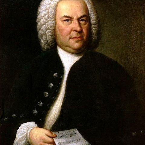 Composer Johanne Sebastian Bach in portrait by Elias Gottlob Haussmann