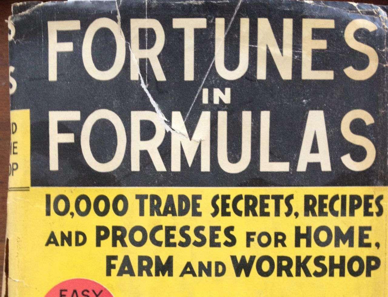 Vintage label reading