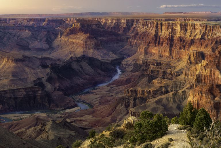 Sunset over Colorado River from a Grand Canyon viewpoint