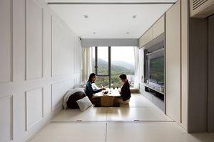 Smart Zendo micro-apartment by Sim-Plex Design Studio living roo