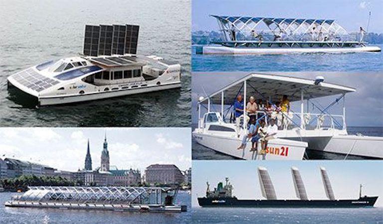 Solar powered boats photo