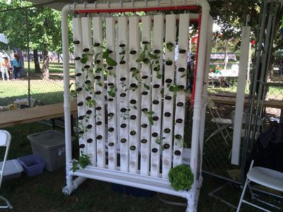 RUFS automated vertical garden with plants