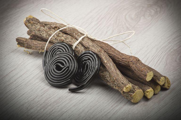 black licorice wheels and licorice roots